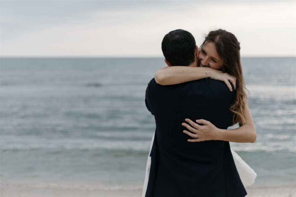 married who sussed sweet words in his wife's ear, in New Caledonia